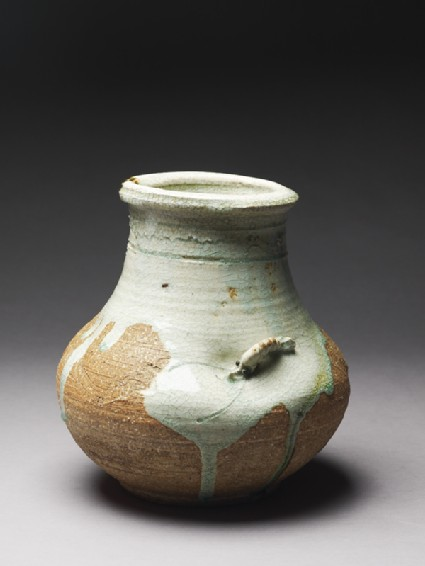 Globular vase with a shrimp