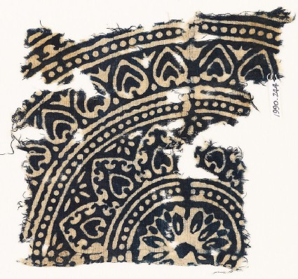 Textile fragment with medallion and petals