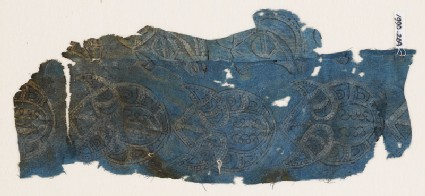 Textile fragment with tear-drops and wing-shapes