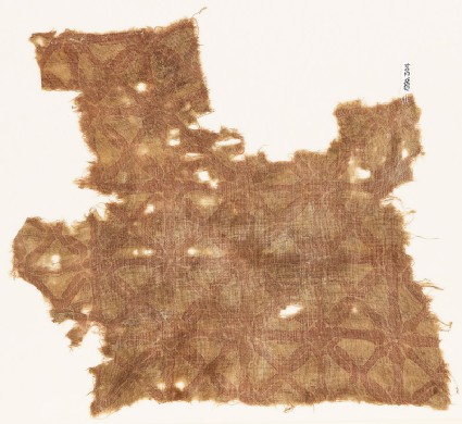 Textile fragment with interlace