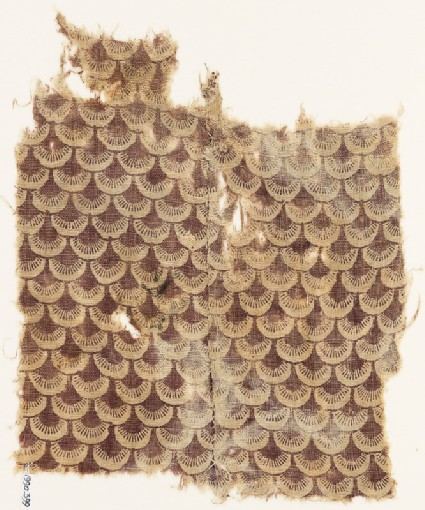 Textile fragment with scales