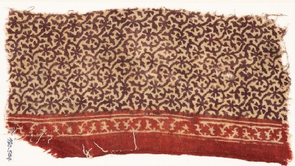 Textile fragment with tendrils and rosettes