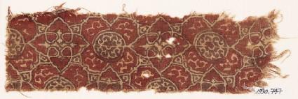Textile fragment with elaborate quatrefoils