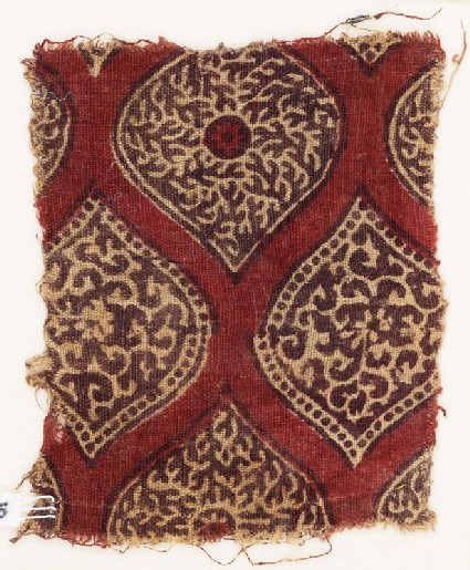 Textile fragment with pointed ovals