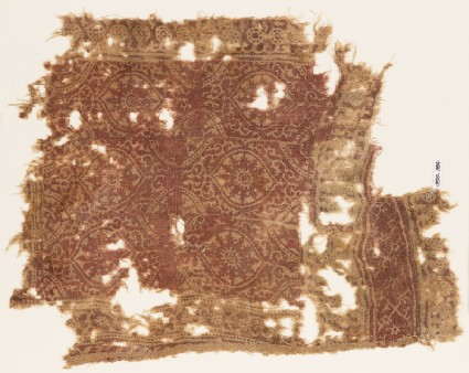 Textile fragment with oval medallions