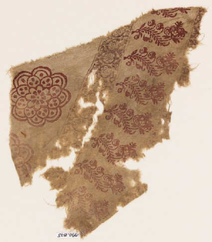 Textile fragment with rosettes and flowers