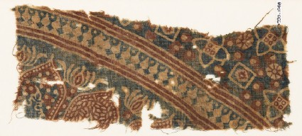 Textile fragment with arches and stylized trees