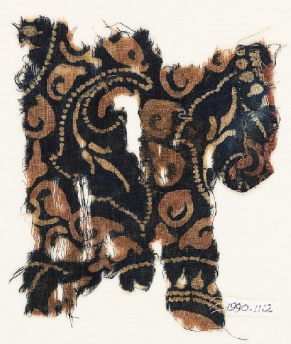 Textile fragment with leaves
