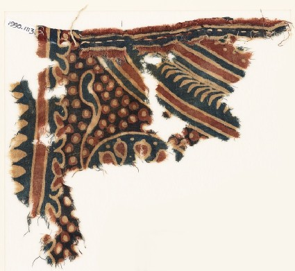 Textile fragment, possibly with part of a large medallion