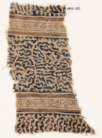 Textile fragment with interlacing tendrils and vines