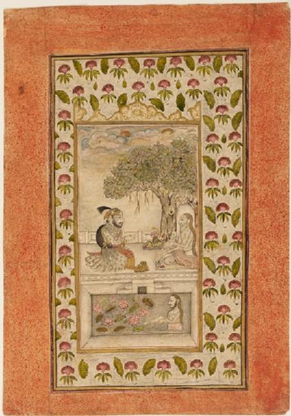 Maharana Sangram Singh II visiting a yogi