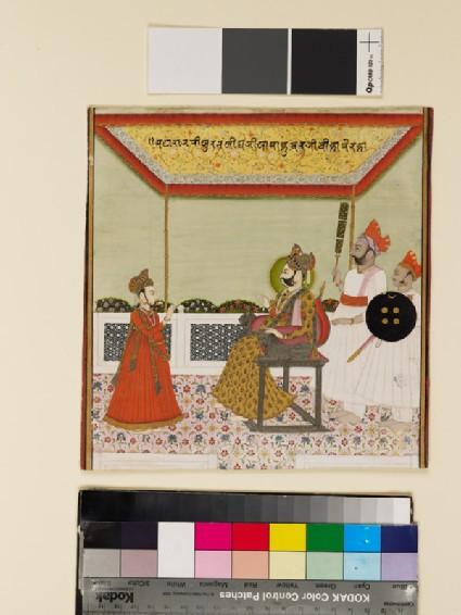 Maharaja Surat Singh and his son