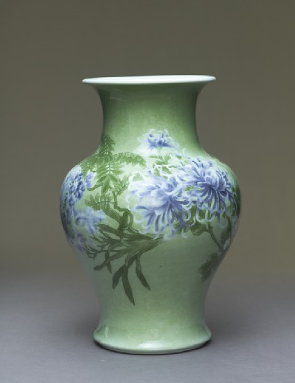 Baluster vase with flowers