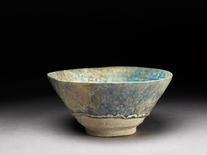 Bowl with light-blue glaze