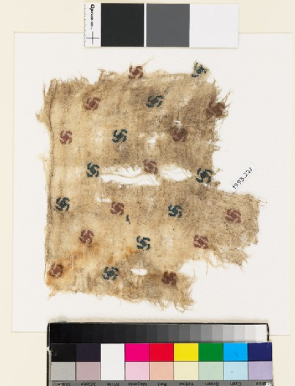 Textile fragment with rosettes
