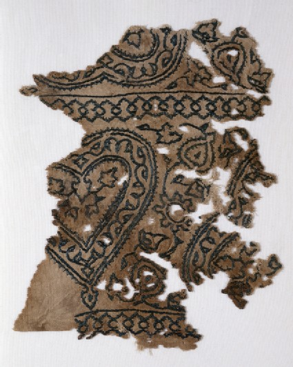 Textile fragment with hearts