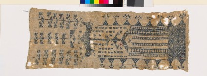 Sampler with floral shapes, V-shapes, pendant, and chevrons