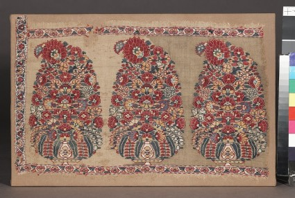 Shawl border fragment with buta