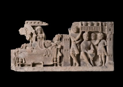 Relief depicting The Dream of Queen Maya