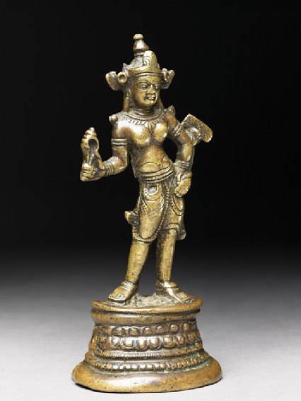 Figure of a bodhisattva, probably Manjushri