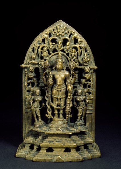 Shrine with figure of Vishnu