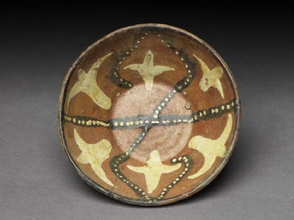 Bowl with dotted and floral decoration