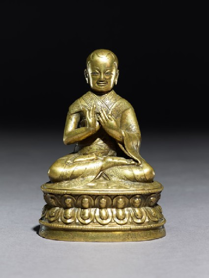 Figure of a seated lama