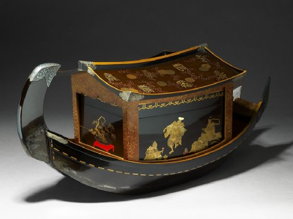 Picnic set in the form of a river boat