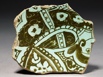Base fragment of a bowl with harpy