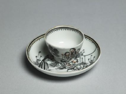 Miniature tea bowl and saucer