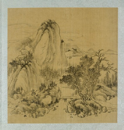 Landscape with a bridge and a figure holding a walking stick