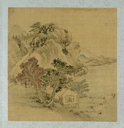 Landscape with a figure standing in a house