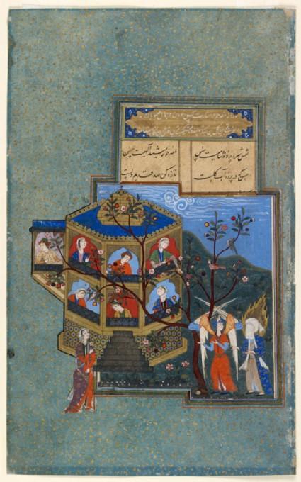 Muhammad and Jibril visiting paradise