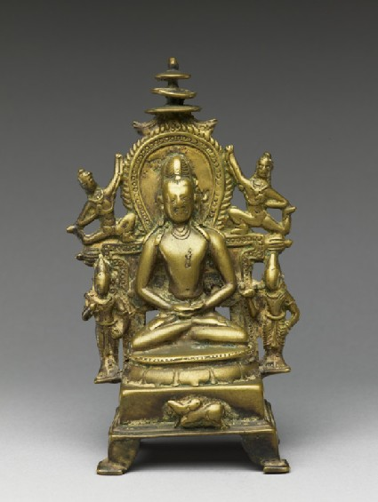Figure of Rishabhanatha with attendants