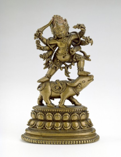 Figure of Yamantaka dancing on a buffalo