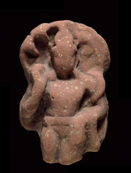 Standing figure of a naga, or serpent deity