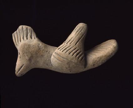 Terracotta figure of a bird