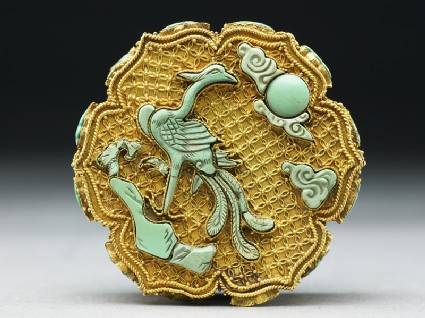 Box with phoenix and emblems of eight Taoist Immortals