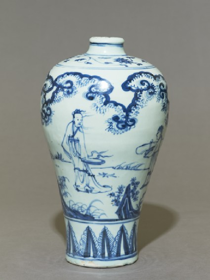 Blue-and-white meiping, or plum blossom, vase
