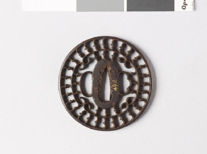 Tsuba with karigane, or flying geese, and c-scrolls