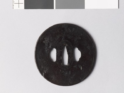 Tsuba with maple leaves