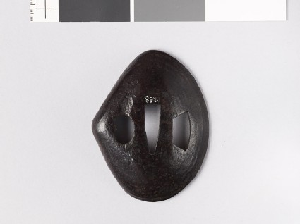 Cupped tsuba in the form of a clam shell