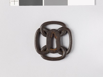 Mokkō-shaped tsuba formed from four loops