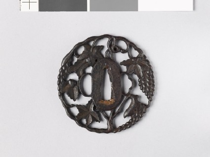 Tsuba in the form of a grape vine