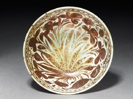 Bowl with floral sprays