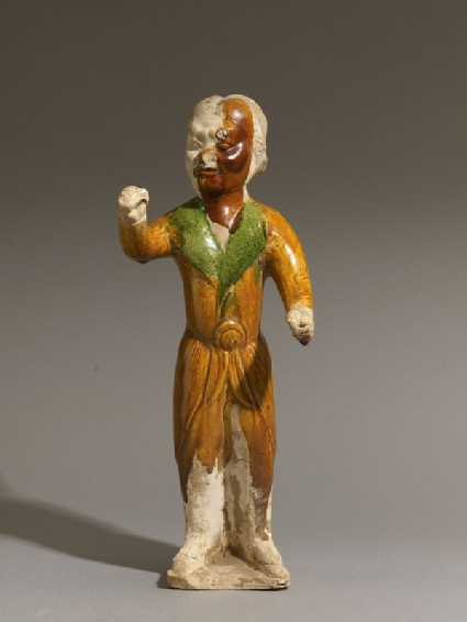 Earthenware figure of a groom