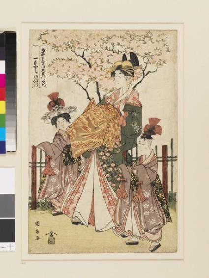 Hitomoto of the Daimonjiya in Kyō-machi itchōme, Kamuro Senkaku and Banki