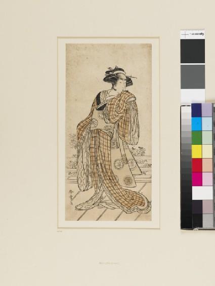 Segawa Kikunojō III in a female role