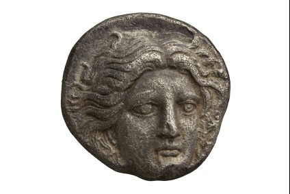 Ancient Greek silver coin