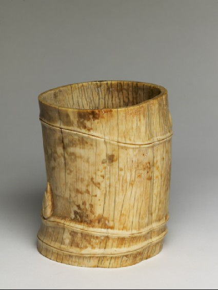 Brush pot in the form of a bamboo stem
